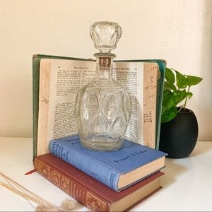 Vintage Clear Glass Decanter with Stopper